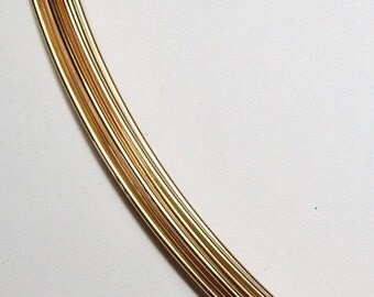 Remnant 18 GA. 1 FT 10.5 IN.  14kt Gold Filled Wire Round, Half Hard