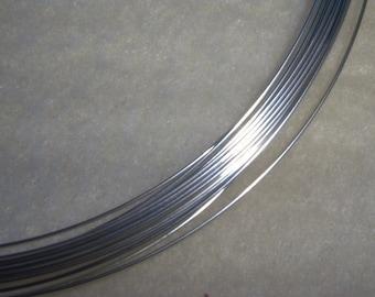 22 ga. 20 ft. ARGENTIUM STERLING SILVER Wire Round, Half Hard Anti Tarnish