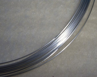 22 ga. 2 ft. ARGENTIUM STERLING SILVER Wire Round, Half Hard Anti Tarnish