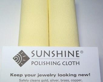 Ten (10) LARGE SUNSHINE POLISHING cloth 7.75  x 5 inches