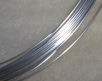 24 ga. 5 ft.  ARGENTIUM STERLING SILVER Wire Round, Half Hard  anti tarnish