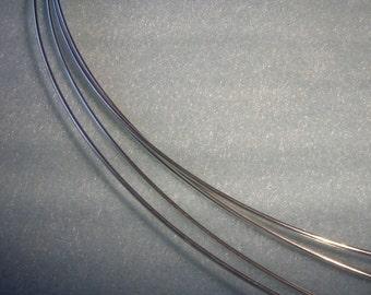 16 ga. 1 ft. ARGENTIUM STERLING SILVER Wire Round, Dead Soft  Anti Tarnish