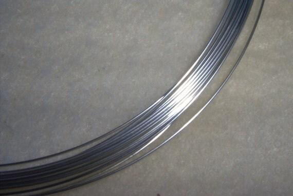 20 ga. 3 ft. (lst) ARGENTIUM STERLING SILVER Wire - Round, Half Hard . Anti Tarnish