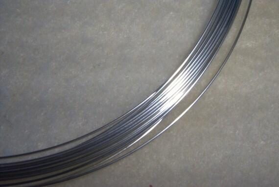 22 ga. 10 ft.  ARGENTIUM STERLING SILVER Wire Round, Half Hard Anti Tarnish