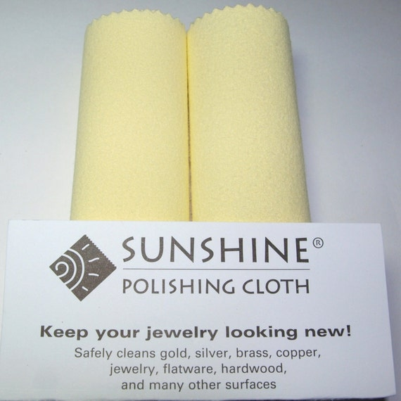 Five (5) LARGE SUNSHINE POLISHING cloth 7.75  x 5 inches