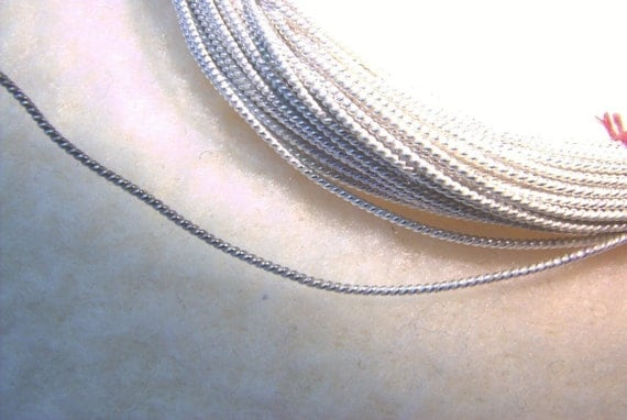 Reserved for northshoreshells 22 GA. 6 FT. Twisted Rope Sterling Silver Wire - Dead Soft and 10feet hh rnd 26g arg and  5 feet hh rnd 26g goldfill