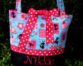 Kawaii Blue Pretty Girls Tote  Bag
