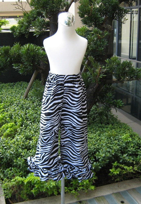 Custom Boutique Zebra Ruffle pant