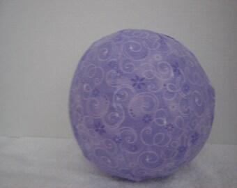 Balloon Ball with Drawstring Pouch-Purple Swirls & Sparkles (Ball 92)