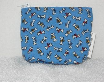 Mini Zippered Pouch-Dog Bones (Mini 71)