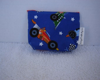 Mini Zippered Pouch-Race Cars(Mini 55)