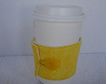Coffee Cozy-Yellow Calico (CC1)