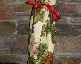 Wine Bottle Bag-Large Vineyard Print (Wine 29)