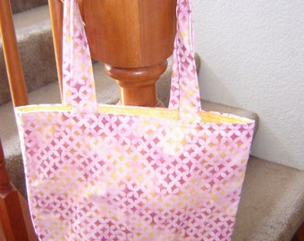 Small Tote-Pink with Diamonds (Bag 233)