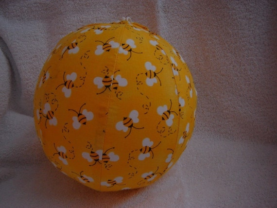 Balloon Ball with Drawstring Pouch-Bumble Bees (Ball 5)