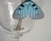 Little Butterfly Wing in Blue-- Necklace