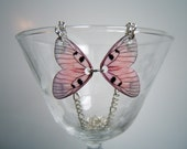 Pink Butterfly Wings-- Necklace