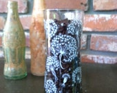 Vintage Retro Dandelion Design Drinking Glass Tumbler