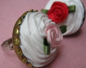 HALF OFF SALE Rose Cupcake Ring