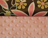 Scraps Bag w\/ magnetic strap - Flowery pink, brown