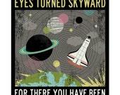 eyes turned skyward print