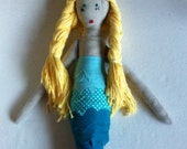 Cathy Special Blonde/Blue Mermaid Doll for Cathy