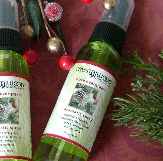 PURE EVERGREEN Holiday FRAGRANCE SPRAY with Natural Essential Oils of PINE, SPRUCE, FIR and BALSAM - Adds Genuine Pine Scent to Rooms and Decorations