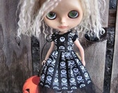 dolly molly SKULLS halloween dress for Blythe doll LIMITED EDITION