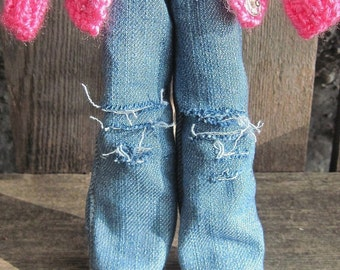 dolly molly distressed jeans for Blythe doll LIMITED