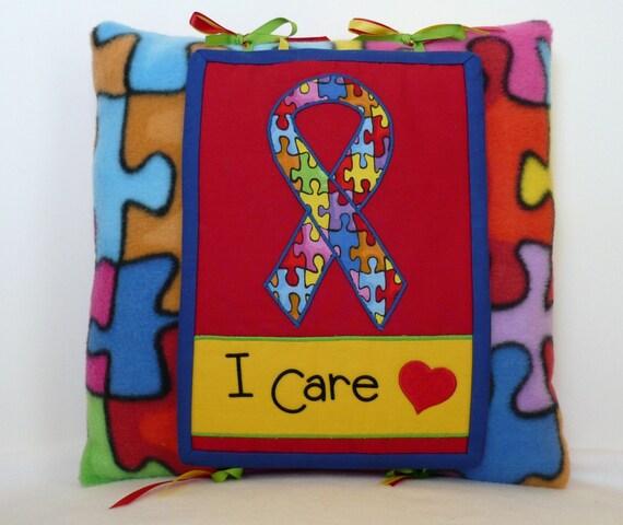 Autism Awareness Pillow  FREE SHIPPING