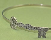 Skeleton key headband steampunk antique style silver