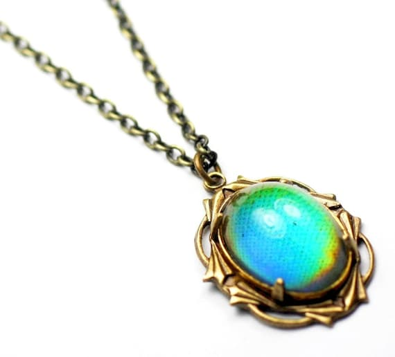 Vintage Style Jewelry, Retro Jewelry Mood necklace vintage style retro art nouveau rainbow brass 60s hippieMood necklace vintage style retro art nouveau rainbow brass 60s hippie $24.30 AT vintagedancer.com