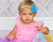 Baby Headband to Adult Headband - Zoe Luxe Custom Flower Headband - Your Choice of Two Zoe Flowers with Jewel Center