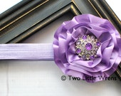 Cathryn Luxe Single Flower Headband - Lavender Flower with Jewel Center - Baby Headband to Adult Headband - SPRING SALE - See Shop