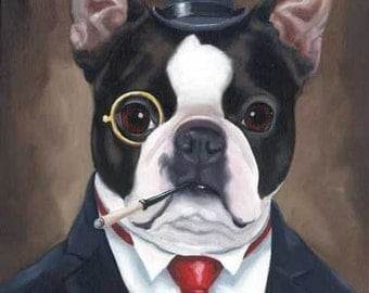 Boston Terrier American Gentleman 2 Art Print