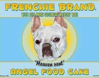 Angel Food Cake - French Bulldog art print