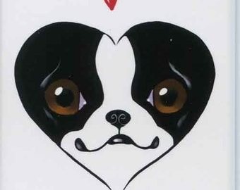 Boston Terrier Dog Art Love Magnet