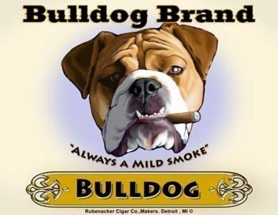 English Bulldog Cigar Label print
