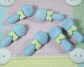 Blue Baby Rattle Novelty Buttons