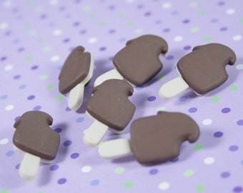 Chocolate Ice Cream Bar Novelty Buttons