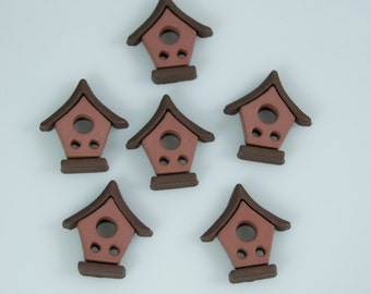 Bird House 2 Holed Buttons