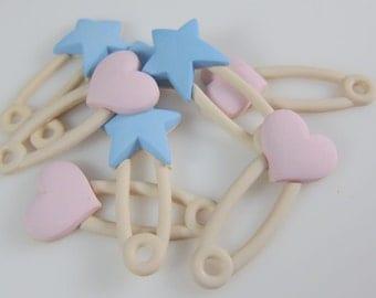 Jumbo Baby Diaper Pins Novelty Flatback Embellishments
