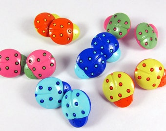 Assorted Ladybug Novelty Buttons