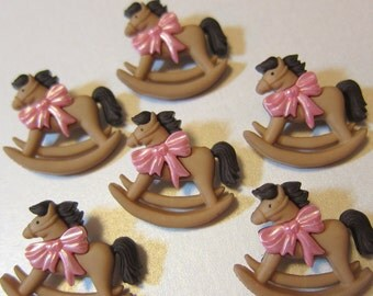 Adorable Rocking Horse Novelty Buttons