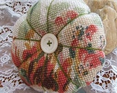Large Pin Cushion - French Floral Printed Linen