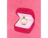 Greeting card -Ring girl-