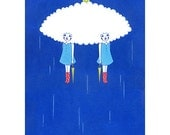 Art Print  -Shelter from the rain-