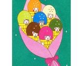 8×10 Art Print  -Bouquet Iceman-