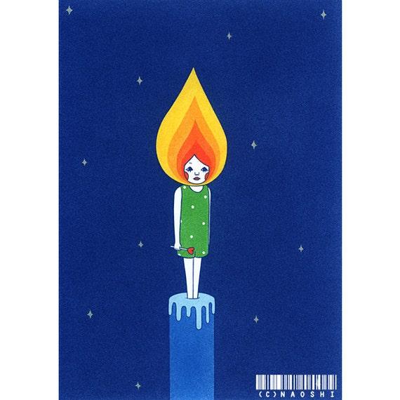 8×10 Art Print  -Candle boy-