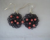 Hand knitted earrings
